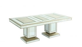 Harlow Traditional Dining Room Set in White Golden