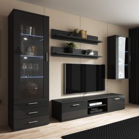 Hayward Modern Wall Unit Entertainment Center