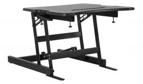 """Hercules 22""""W Sit Stand Height Adjustable Desk with Height Lock in Black"""