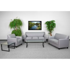 HERCULES Diplomat Series Reception Set in Gray [BT-827-SET-GY-GG]