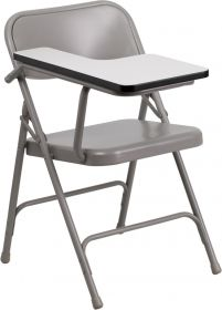 Premium Steel Folding Chair with Right Handed Tablet Arm [HF-309AST-RT-GG]