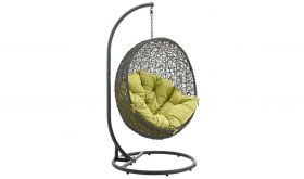 Manalapan Outdoor Patio Swing Chair with Stand in Gray Peridot