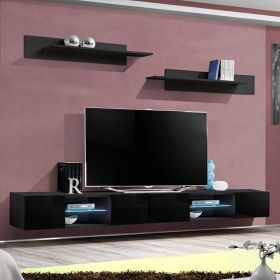 "Hole Modern Wall Mounted Floating 126"" TV Stand"