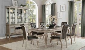 Crawford 5546 Dining Room Set in Silver