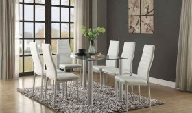Florian 5538W Dining Room Set in White