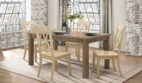 Janina 5516 Dining Room Set in Pine & Buttermilk
