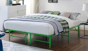 Horizon Modern Stainless Steel Bed in Green