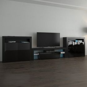 Hunts Modern Wall Unit Entertainment Center