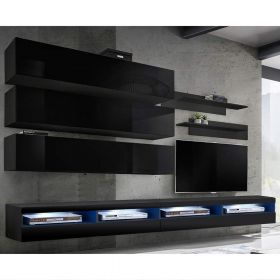 Huntsville Wall Mounted Floating Modern Entertainment Center (Size J1)