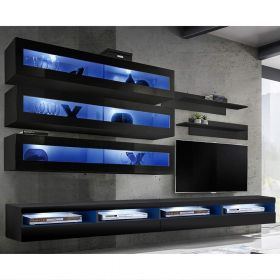 Huntsville Wall Mounted Floating Modern Entertainment Center (Size J2)