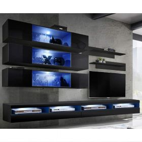 Huntsville Wall Mounted Floating Modern Entertainment Center (Size J3)