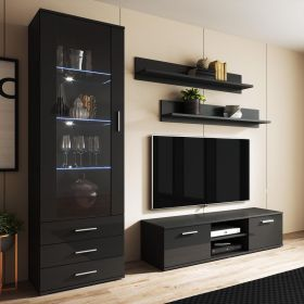 Indio Modern Wall Unit Entertainment Center