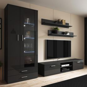 Irvine Modern Wall Unit Entertainment Center