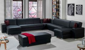 Istikbal Kobe Modular Sectional Sofa in Santa Glory Black
