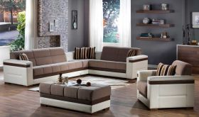 Istikbal Moon Convertible Sectional Sofa in Platin Mustard