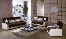 Istikbal Natural Convertible Living Room Set in Colins Brown