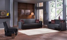 Istikbal Tokyo Convertible Living Room Set in Santa Glory Grey