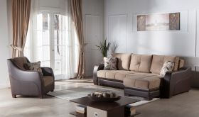 Istikbal Ultra Convertible Sectional Sofa in Lilyum Vizon