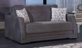 Istikbal Valerie Convertible Sleeper Loveseat in Diego Grey