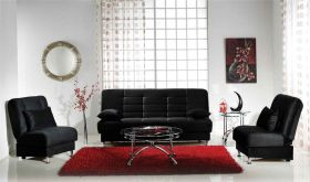 Istikbal Vegas Convertible Living Room Set in Rainbow Black