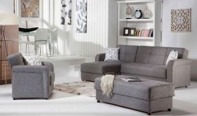 Istikbal Vision Convertible Sectional Sofa in Diego Grey