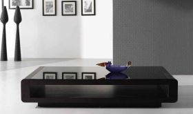 J&M 673 Modern Coffee Table in Dark Oak