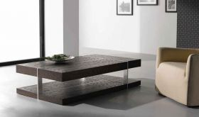 J&M 857 Modern Coffee Table in Dark Oak