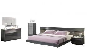 J&M Braga Premium Bedroom Set in Rich Grey
