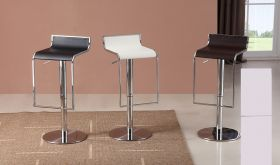 J&M C027B-3 Leather Barstools in White, Black & Brown