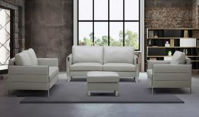 J&M Constantin Motion Living Room Set in Light Gray