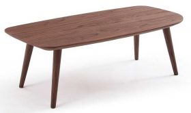 J&M Downtown Moden Coffee Table in Natural Walnut