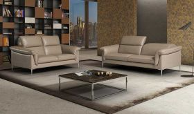 J&M Eden Modern Living Room Set in Taupe