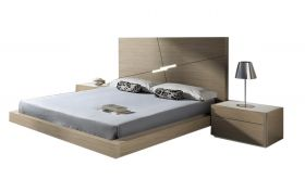 J&M Evora Premium Bedroom Set in Natural Oak