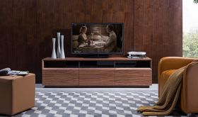 J&M Lisa TV023 TV Stand in Walnut