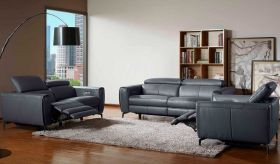 J&M Lorenzo Motion Living Room Set in Blue Grey