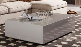 J&M P592A Modern Coffee Table in Light Grey