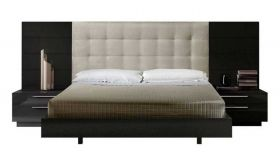 J&M Santana Premium Bedroom Set in Black