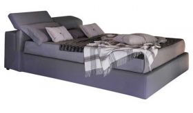 J&M Tower Storage Bed in Grey