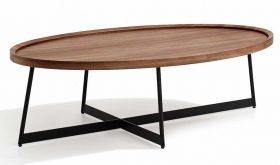 J&M Uptown Moden Coffee Table in Natural Brown & Black