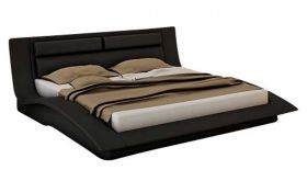 J&M Wave Modern Bedroom Set in Black