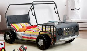 Jeep Youth Novelty Twin Bed in Gun Metal