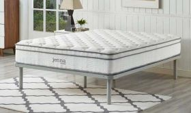 Jenna 10 Innerspring Mattress in White