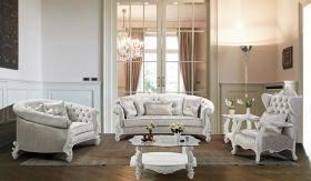 Juliana Traditional Living Room Set in Off White