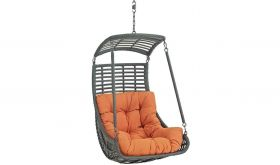 Jamesburg Outdoor Patio Swing Chair without Stand in Orange