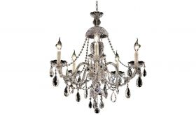 Kent Traditional 5 Lights Hanging Fixture Chandelier in Chrome Finish