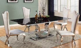 Killeen Casual Dining Room Set in Black & White
