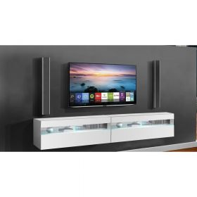 "Lane Modern Wall Mounted Floating 78"" TV Stand"