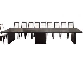 Wyoming Modern Extendable Dining Table in Wenge