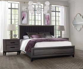 Laura with out Case Bedroom Set in Foil Grey/Marble