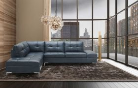Colon Premium Sectional Sofa with Storage in Blue